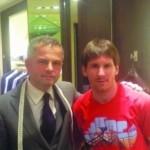 Lionel Messi wears Albanian designer's clothes