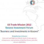 Doing Business and Investment in Kosovo: Conference in Washington DC