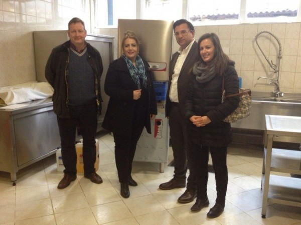 Picture: ZERI. KODEF donation of professional dish washer to the elderly home.