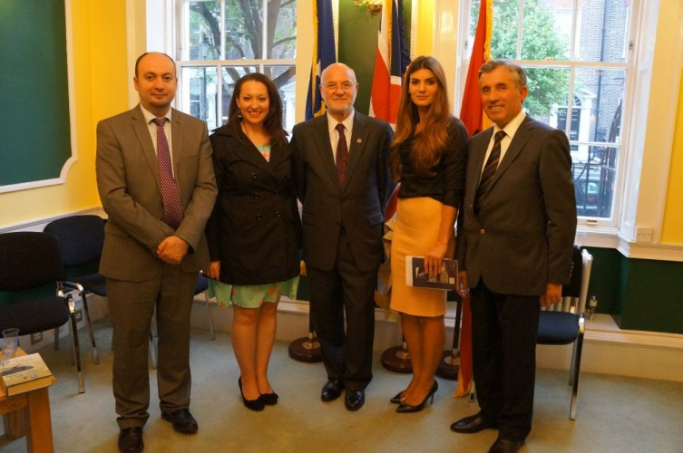 Book Launch, Arion Krasniqi, Ermira Babamusta, Ambassador  Mal Berisha, Rezarta Bytyçi and renowned author Dr. Enver Bytyçi,  Kosovo's Embassy in London