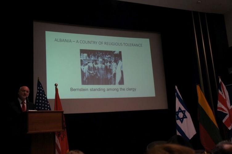 Keynote speaker Ambassador Mal Berisha, American Embassy  in London, during the Albanian-British Festival of Culture